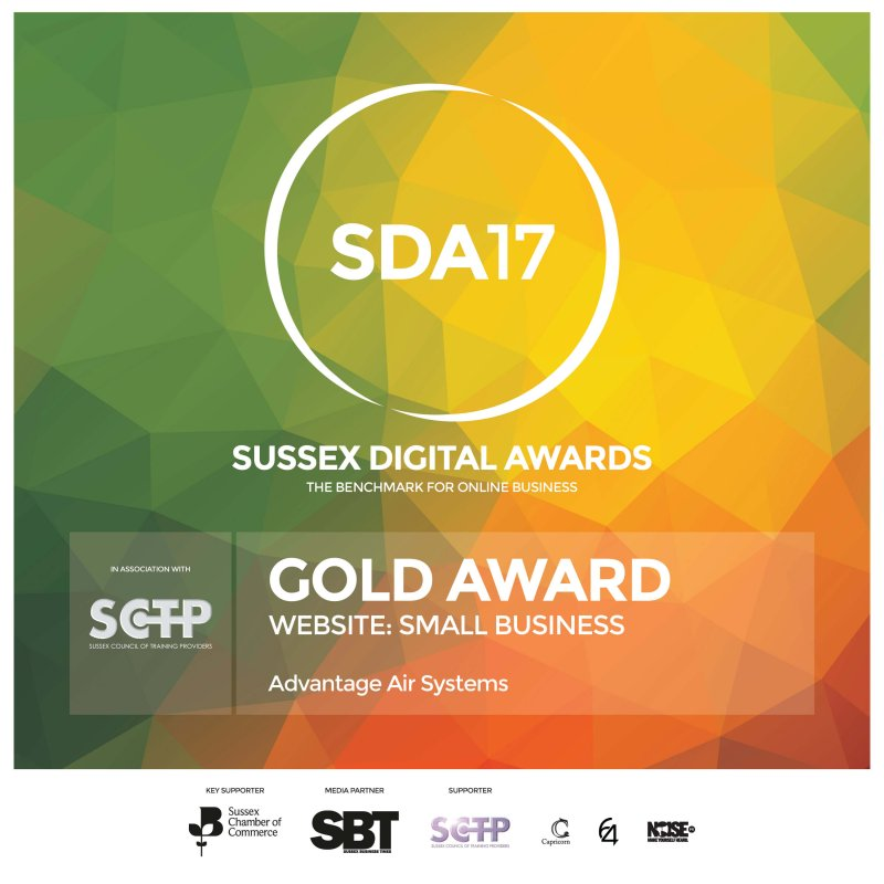 Gold at the Sussex Digital Awards 2017